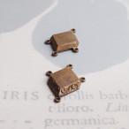 1950's ひし形の真鍮コネクター(2コ)