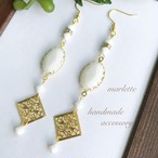 White Oval ロングピアス・イヤリング