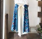 【マーメイドスカート】wish/ブルー/original textile《オーダー可能》