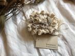 【ご予約】裂き編みコサージュ :ベージュ(限定数)