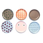 Goma bamboo plate【S】- Bold check / Wave line / Dot /triangle / check / face プレート 食器