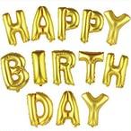 送料無料‼おまけ付き‼ HAPPY BIRTHDAY バルーン 風船 ゴールド**PA-11-1