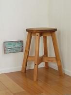 丸スツール 木製丸椅子  (ダークブラウン:43cm)