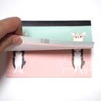 【予約品】メモ帳<チワワデザイン>ミント/ピンク 2種のイラスト
