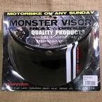MONSTER VISOR モンスターバイザー / BK/WH ブラック/ホワイト