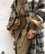 maranチェックロングコート ロングコート チェックコート 韓国ファッション
