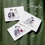 【オーダーメイド】似顔絵wedding card