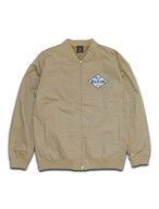 ICE CUBE PATCH STADIUM JACKET beige
