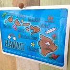 ハワイマップ ステッカー