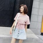 【新作10%off】corset belt T shirts 2550