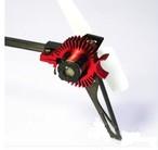 シルバー★K110用 テールモーター用ヒートシンク 、テールモーター冷却装置、カラー / シルバー、レッド