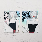 STAY HOME sticker set
