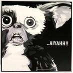 GIZMO ギズモ / グレムリン「ポップアートパネル Keetatat Sitthiket」ポップアートフレーム ポップアートボード グラフィックアート ウォールアート 絵画 壁立て 壁掛けインテリア 額 ポスター プレゼント ギフト インスタ映え 映画 キータタットシティケット