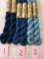 草木染め こぎん糸 藍染 10本撚りと8本撚りがあります。