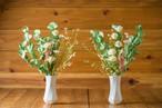 花器セット【お盆・お供え・仏花】お供え仏花花束 造花-G-