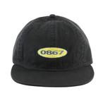 0867 / Unstructured Cap / Box / Logo / Black