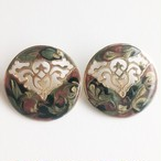 marble enamel pierce[p-685] ヴィンテージピアス