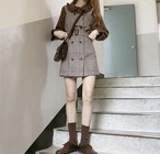 大人ガーリー♡ ブラウス+ジャンスカのセットアップ♡