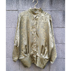 Euro gold shiny stand blouse