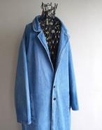 1990's [SIERRA WEST] マキシレングス ロングデニムコート 2ボタンテーラード型 ブルー 表記(M) ヴィンテージ