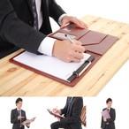 【バインダー】A4 合皮 レザー 革 革製/デスク パッド ビジネス セミナー 仕事