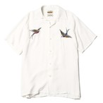 """SWALLOW SHIRT artwork by H.U. ""(WHITE) / RUDE GALLERY BLACK REBEL"