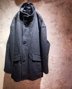 pierre cardin wool stand collar coat