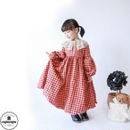 «予約»One Day for The Celebration Dress gingham check ver.1 チェックバルーン ワンピース