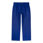 Single Pleat Chino(Blue)