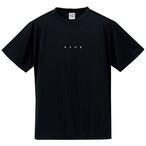 ドライシルキー miniロゴTシャツ(ブラック×ホワイト)