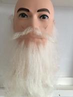 付け髭 ロング 白