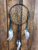 ドリームキャッチャー直径約20㎝ブラック ナバホ族ハンドメイド