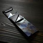 """睡蓮画をお手元に。""""Black×Floral""""<所作・二つ折り財布ver.2,0>"""