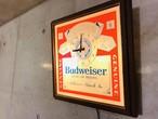 バドワイザービール ビンテージ クロックライト パブサイン