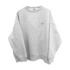 9___89 Deer huge embroidery sweat Ash x Black