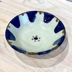 『ノモ陶器製作所』鉢5寸コバルトチチチャン花大