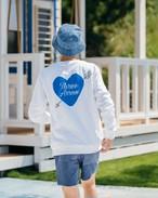 ThreeArrows Heart Logo Sweat (blue)