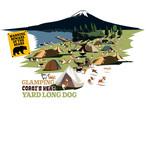 No.2021-summer-TS-002 :  2021夏の新デザイン アウトドアコーギー グランピング  Yard Long Dog Tシャツ5.6oz