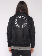 THRILLS DRAGWAY BOMBER JACKET - BLACK / WHITE EMBROIDERY