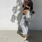 Onehandle Bag wz Ecofur / platinam / ファー付