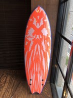 Mason Twin FCS II  5'6  Neon Red/White