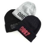 0867 / Knit Cuff Beanie / College / Logo