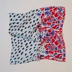 Silk 'Abbey / Seashells'  リング付きミニスカーフ