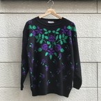 """G.F.C"" Flower Pattern Knit Sweater"