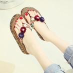 【shoes】人気ファッション配色サンダル20045785