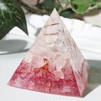 ピラミッド型Ⅱ オルゴナイト ローズクォーツ