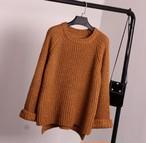 ざっくりケーブル編みニットセーター チョコレート