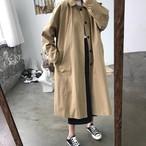 【送料無料】 スプリングコート♡ ゆるカジ ナチュラル シンプル ロングコート トレンチコート 春 アウター