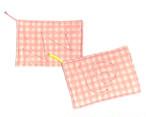 ダブルガーゼ 雑巾 台布巾 ぞうきん 台ふきん ピンク2枚セット_B