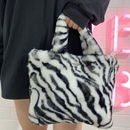 Zebra Fur Bag
